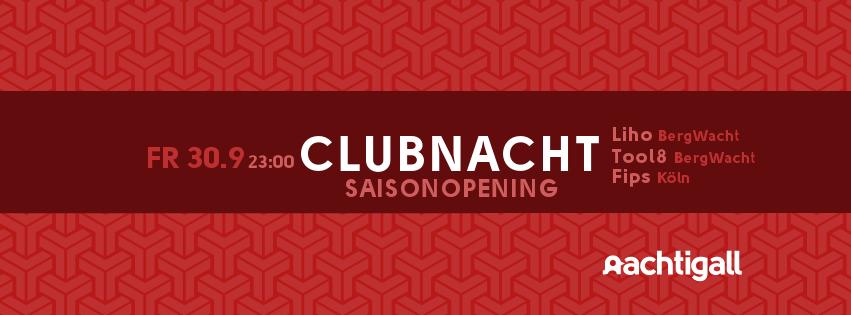 30.9 /// 7€ /// Clubnacht Saisonopening