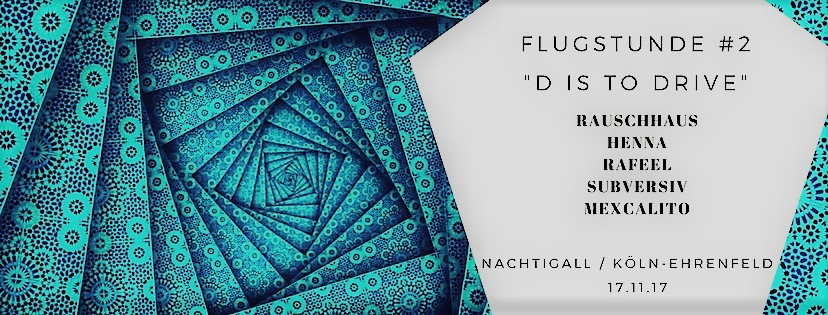 """Flugstunde #2 / """"D is to Drive"""""""